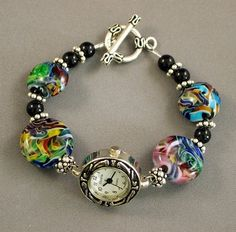 Lampwork beads and watch