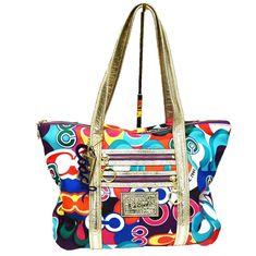 846e5b601601 Coach Poppy Pop C Graffiti Glam Handbag Fabric Leather Multi Color  Discontinued  Coach  Tote