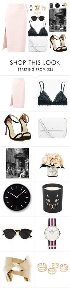 """Paris in Fashion"" by smilebehappy0 ❤ liked on Polyvore featuring MSGM, Madewell, Tory Burch, Creative Displays, Lemnos, Charlotte Olympia, Christian Dior and Daniel Wellington"