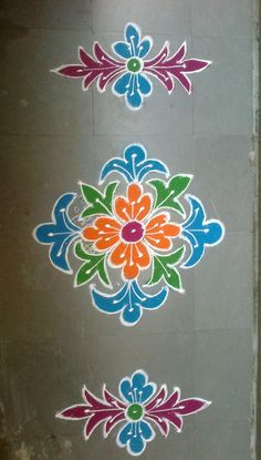 Rangoli Side Designs, Rangoli Designs Latest, Simple Rangoli Designs Images, Free Hand Rangoli Design, Small Rangoli Design, Rangoli Designs Diwali, Rangoli Designs With Dots, Beautiful Rangoli Designs, Rangoli Colours