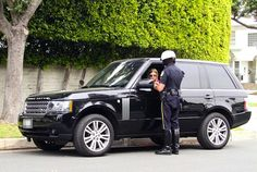 Nicky Hilton pulled over in her Rover