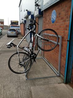 Floor Wall Mounted Bike Rack Stand Cycle Storage Locking Stand Parking Grange UK