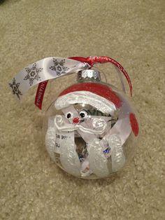 Santa Claus ornament - an upside down handprint!