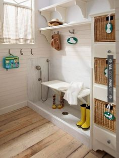 Add a doggie wash to a mudroom, laundry room, or entryway. | 33 Insanely Clever Upgrades To Make To Your Home