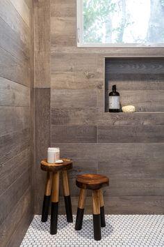 Designer: Juxtaposed Interiors| Luxury Farmhouse Bathroom| Walker Zanger Tile