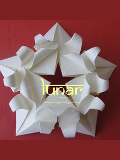Zen Origami: LUNAR (para minha mãe)