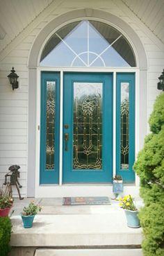 Beachy door...Benjamin moore calypso blue