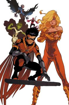 Here are the Teen Titans by Karl Kerschl, I really enjoy this rendering of one of favorite DC crime fighting groups.