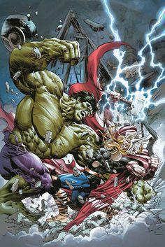 Hulk vs Thor by Mike Deodato Jr