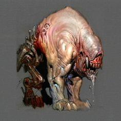 Doom 3 - Pinky Demon concept art.