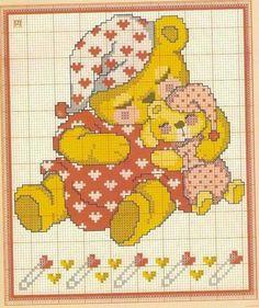 Mamma orso con orsetto