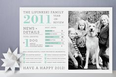 Family Year in Review Christmas Photo Cards | How cute is this?! Totally want to make this myself:)
