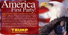 The Forbes Group ‏@gqforbes Jun 6  Join our new 'America First Party!' led by @realDonaldTrump! #dtmag @DonaldJTrumpJr @EricTrump @IvankaTrump (1206) Twitter