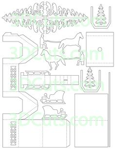 3d Christmas, Christmas Villages, Christmas Houses, Xmas, 3d Paper Crafts, Diy Paper, 3d Cuts, Rena, Putz Houses
