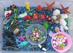 Ocean sensory tub, ocean sensory bin, ocean, sensory tub, sensory bin,  www.nurturingnaters.blogspot.com
