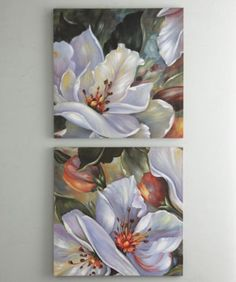Set of 2 Grand Floral Prints from Through the Country Door® Mini Canvas Art, Canvas Wall Art, Jesus Drawings, Flower Art Drawing, Arte Floral, Sunflower Art, Abstract Watercolor, Botanical Art, Floral Prints