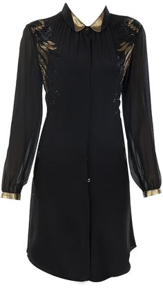 Black and gold wings tunic by NAMRATA JOSHIPURA.http://www.perniaspopupshop.com/designers-1/namrata-joshipura