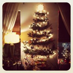 This is a great idea to put up a christmas tree , if you dont have enough money to buy one , you can just make one