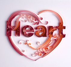 .Quilled Heart