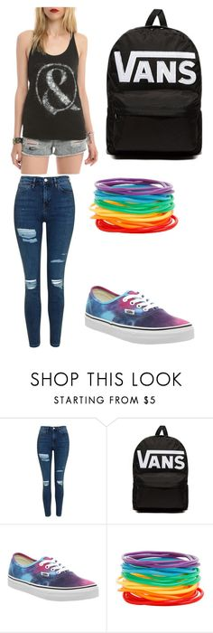 """""""When You Can't Sleep at Night"""" by kookik ❤ liked on Polyvore featuring Topshop, Vans and Hot Topic"""
