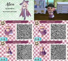 rune factory alicias dress for animal crossing acnl alicia qr code girl witch by sturmloewe