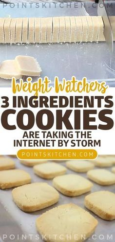 These brilliant cookies are taking the internet by storm: 3 ingredients and ready in no time #dessert #cookies #weightwatchers #weight_watchers #lowcarb #slimmingworld #ketogenic