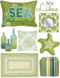 Lime Green Decor - Completely Coastal