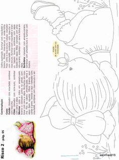Olá meninas! Olha só que legal Risco para fraldas,   Coleção N º 2 da Susy Pintura em tecido.                                             ...