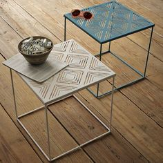 Sturdy, airy, beautiful, affordable, for inside and out - Euclid Side Table | west elm