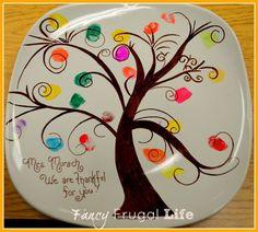 Esto sería artesanal día de los abuelos lindo ... todas las hojas podría ser las huellas dactilares de los nietos .: