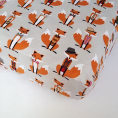What does the FOX Say Crib Sheet - Fox Crib Sheet / Nursery Bedding / Changing Pad Cover / Baby Sheet by Babiease