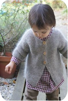Gilet au point mousse taille 2 ans (in French)