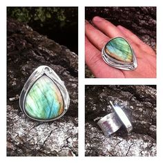 Labradorite and Sterling Silver Art Nouveau by GypsyPeacockJewelry, $175.00
