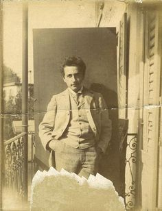 Young Albert Einstein as a Zurich Polytechnic student - Photograph by Lotte Jacobi