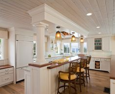 Beach Style Kitchen | Beach House - Cardiff-by-the-Sea beach style kitchen
