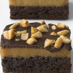 Triple-Layer Peanut Butter Brownies