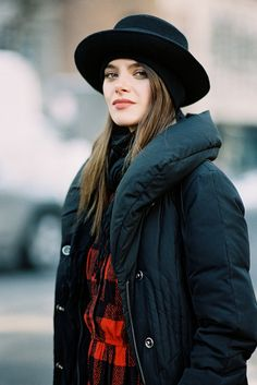 Pretty color puffer coat & hat