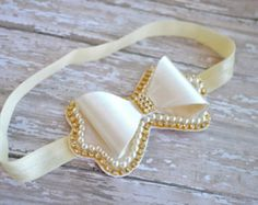 Flower Girl Headband Flower Girl Head Piece by LilMajestyBoutique