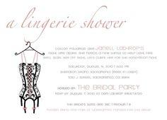 Lingerie shower invite idea