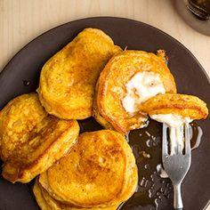 Pumpkin Pancakes made with Stonyfield Organic Whole Milk Plain Yogurt and Stonyfield Organic Milk