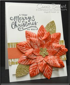 Reason for the Season for the Create with Connie and Mary color challenge this week!  Festive Flower Punch, Stampin' Up!, #stampinup, created by Connie Babbert, www.inkspiredtreasures.com