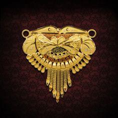 AJDKP029 New Jewellery Design, Gold Jewelry, Pendants, Brooch, Detail, Pendant, Gold Jewellery