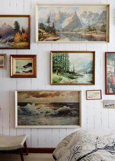 Julie Patterson Mountain Home via The Design Files via dustjacketattic Sweet Home, Landscape Walls, Landscape Paintings, Nature Paintings, Oil Paintings, Landscapes, Hanging Paintings, Nature Prints, Mountain Paintings