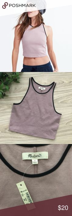 • Madewell • Offline Crop in Colorblock Sz S New with tags Madewell Offline Crop in Colorblock size Small. 88% Cotton, 12% Polyamide || Bust: 13 inches || Total Length: 16.5 inches || Madewell Tops Crop Tops