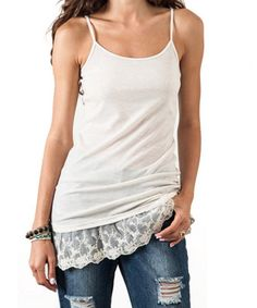 Lace Extender Tank Tops - Oatmeal, Gray or Black (Ladies) – Rose Gold Vintage