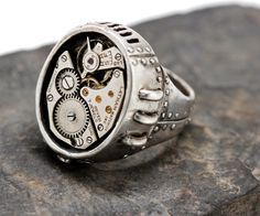 Steampunk ring watch