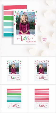 Valentine's Day Collection: A bright and cheery collection of classroom valentines, photo valentines and personalized gifts to celebrate this love-filled holiday.