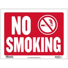 12 Inch X 16 Inch No Smoking Sign Wholesale Cheap Discount Bulk