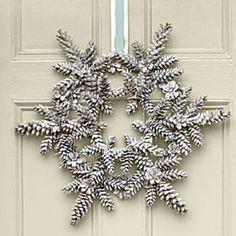 Snowy Pinecone Wreath