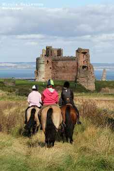 Horseback riding in Scotland